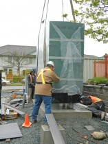 Generator Carefully Positioned - Abbotsford Firehall Delivery