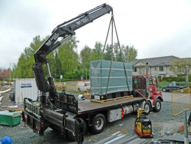 Generator Unloaded From Truck - Abbotsford Firehall Delivery