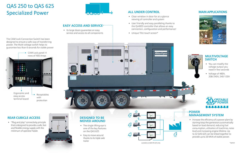 atlas copco mobile generator