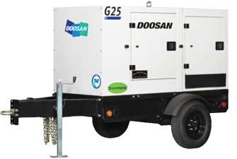 doosan g25 25 kVA|20kW generator