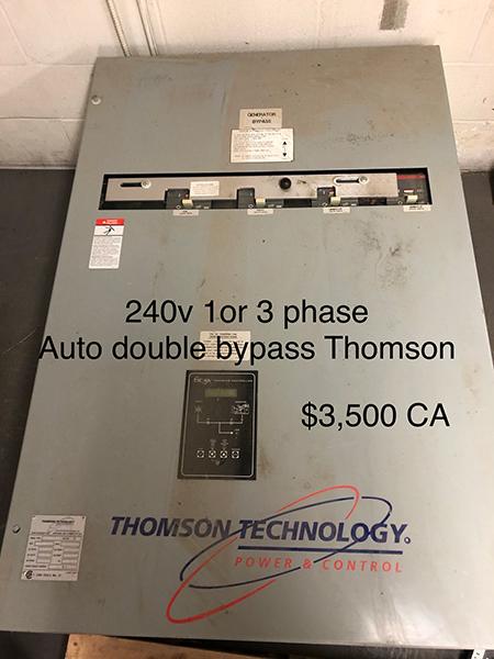 Thomson 240 Volt Transfer Switch